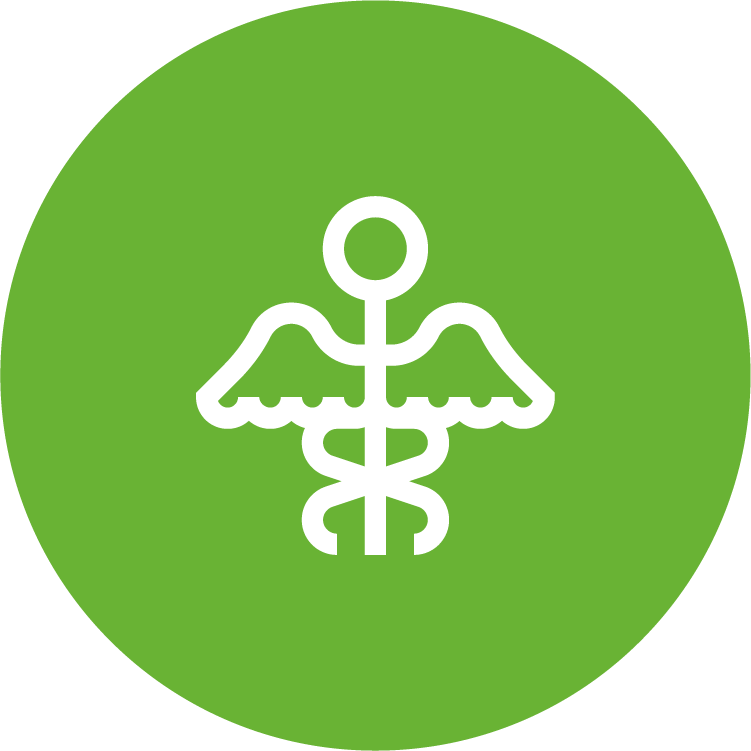 physicians planning service (ppsc) green circle icon with white medical staff